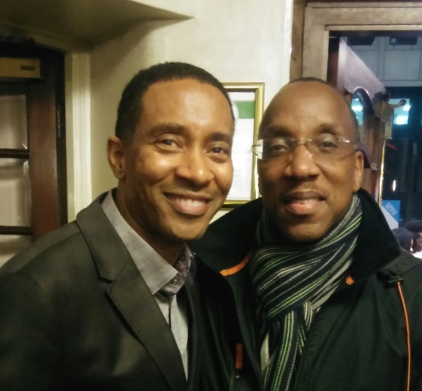 With Motown Musical director, Charles Randolph-Wright at the show's dress rehearsal, Shaftesbury Theatre (February 2016)