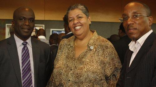 With Jamaica High Comissioner Aloun Ndombet-Assamba and Director of BVI Overseas Office, Kedrick Malone