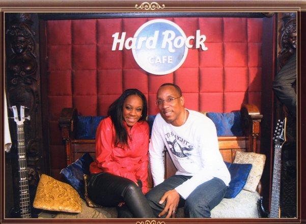 Interviewing Marla Brown (Denis Brown's daughter) at Hard Rock Cafe London Feb 2012