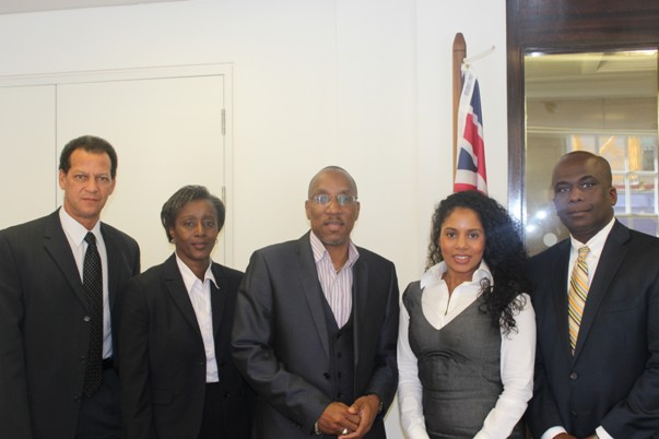 With Overseas Territory Representatives at Cayman Islands London Office