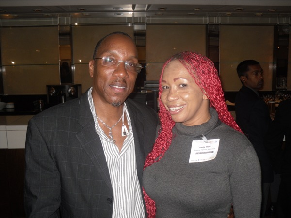 With Caribbean Fashion Designer Sonia Noel at African Caribbean Business Expo 2013