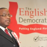 Winston McKenzie affirming his support for English Democrats. Photo courtesy CaribDirect
