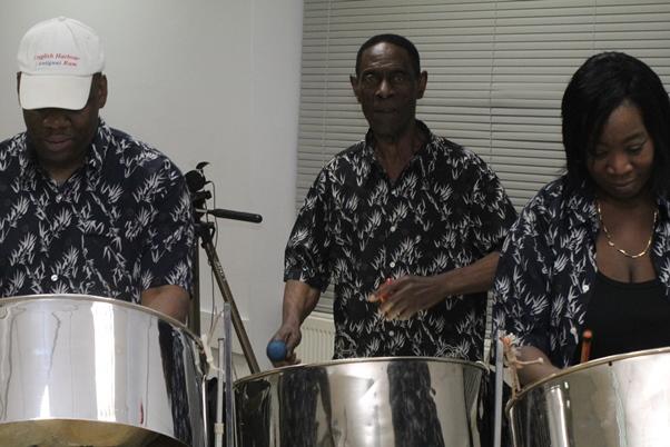 Nite Blues Steelband serenading the gathering. Photo courtesy CaribDirect