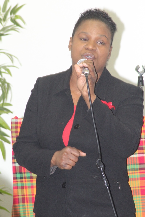 Aurnshel Richards sings for the audience. hoto courtesy CaribDirect