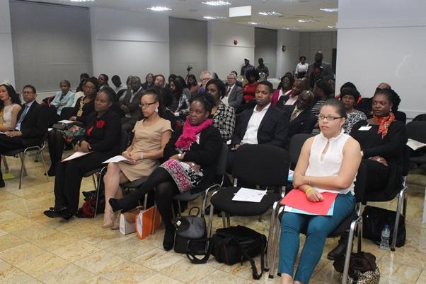 Cross-section of audience listening to Dr Natasha Lightfoot. Photo courtesy CaribDirect
