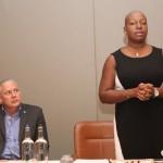Dr. Gale T. C. Rigobert addressing St Lucian audience. Photo courtesy CaribDirect