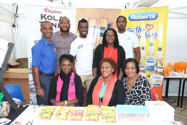 Visiting Barbados delegation, the Barbados Investment and Development Corporation at their Jus' Caribbean Festival booth. Photo courtesy CaribDirect
